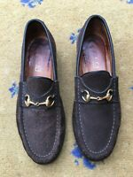 Gucci Womens Shoes Brown Suede Horsebit Loafers UK 4 US 6 EU 37 Ladies