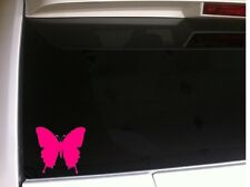 "Butterfly Vinyl Car Decal 6"" *B5*  sticker nature monarch Fly Pink Laptop Skin"