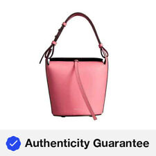 Burberry Bright Coral Pink Small Leather Bucket Bag 4075872