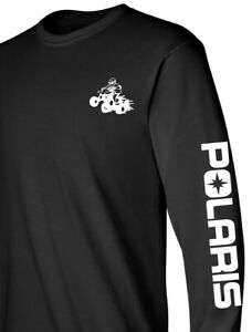 POLARIS ATV Long Sleeve Tshirt BLACK or NAVY Many Design Color RZR Sportsman ACE