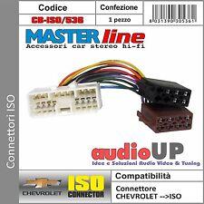 CONNETTORE ISO RADIO ORIGINALE PER CHEVROLET SPARK FINO AL 2012 - MASTERLINE