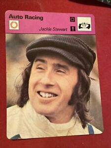 Sportscaster Card: Jackie Stewart -Auto Racing