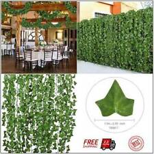 Artificial Hanging Plant Fake Flower Green Leaves Wall Garden Wedding Cosplay