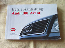 Audi 100 C4 Avant  Betriebsanleitung Bedienungsanleitung 1991