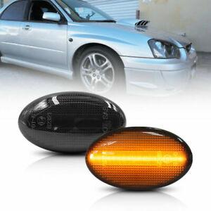 Smoke Led Side Marker Blinker Turn Signal Light For 02-07 Subaru Impreza Wrx Sti
