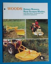 Woods Rotary Mowers Rear Scraper Blades Farm Industrial Equipment Sales Brochure