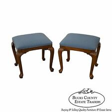 Ethan Allen Pair of Solid Maple Benches or Stools