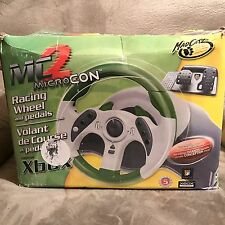 Madcatz MC2 Racing Wheels and Pedals Mcon For Xbox Video Game Accessory and box