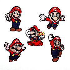 Lot 5 Nintendo Super Mario Bros World Game Cartoon Comic Character IRON ON PATCH