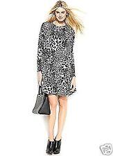 Michael Kors Luxus Kleid/Jerseykleid  Animal-Print  Grau/Schwarz Gr.36/S  Neu!