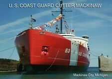 The U.S. Coast Guard Cutter Mackinaw City, Great Lakes Ship, Michigan, Postcard
