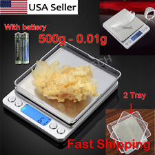Electronic Digital Mini Scale Weighing JEWELRY PLATFORM Kitchen 500g - 0.01g