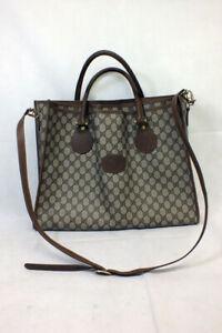 Vintage Gucci Large 3 Pocket Tote Plus Coin Purse GG 1980s Shoulder Bag Strap