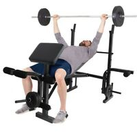 Folding Weight Lifting Bench Rack Body Workout Exercise Machine Home Fitness