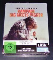 Rampage Grand Meets Bigger 4K Ultra HD blu ray Limitée steelbook Édition Neuf