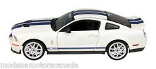 2007 FORD MUSTANG SHELBY GT500 WHITE BLUE STRIPES HOT WHEELS ELITE BLOWOUT PRICE