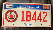 2015 CITIZEN POTAWATOMI PLATE (1B442)