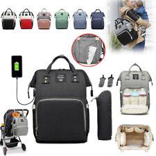 Rucksack Mamabeutel Wickeltasche Babytasche Wickelrucksack USB+Haken Wasserdicht