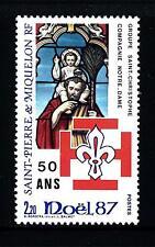 ST. PIERRE E MIQUELON - 1987 - Natale e 50° del movimento Scout in St. Pierre