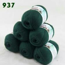 Sale 6balls50g LACE Acrylic Wool Cashmere hand knitting Wrap Yarn Hunter Green