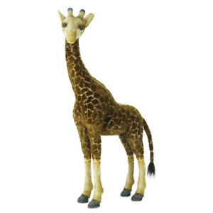 HANSA AFRICAN GIRAFFE JACQUARD REALISTIC CUTE SOFT ANIMAL PLUSH TOY 85cm **NEW**