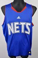 New Jersey NETS Vest Jersey Men XL Brooklyn NBA Blue Shirt Basketball Adidas Top