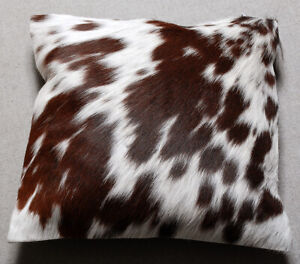 NEW COW HIDE LEATHER​ CUSHION COVER RUG COW SKIN Cushion Pillow Covers C-3880