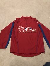 Majestic Cool Base Philadelphia Phillies 1/4 Zip Pullover Mens Medium EUC