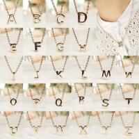 Letras Cadena Chapado en oro Moda Inicial Colgante Collar Alfabeto Estilista