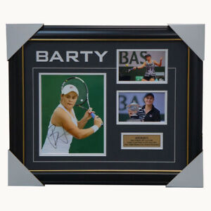 Ash Barty Signed Tennis Grand Slam Champion Photo Collage Framed French Open COA