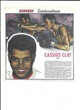 CASSIUS CLAY MUHAMMAD ALI SWEDISH REKORD JOURNAL OVERSIZE ROOKIE CARD *SCARCE*