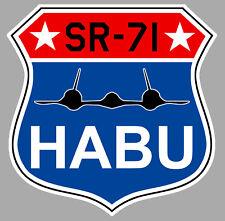 LOCKHEED SR 71 BLACKBIRD HABU BLASON BADGE SQUADRON 9cm AVION STICKER AV062