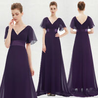 Ever-Pretty Bridesmaid Dresses Long Cap Sleeve V-neck Cocktail Party Dress 09890