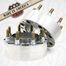 """Rear 8x170 Hub Centric Dually Wheel Spacer 3"""" Thick 1"""" Steel Ring   2pc USA"""