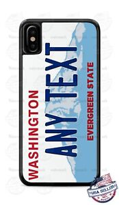 Washington State License Plate Design Customize Phone Case For iPhone Samsung LG