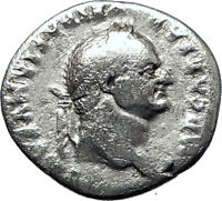 VESPASIAN 69AD  Authentic Genuine Ancient Silver Roman Coin Jupiter i70376