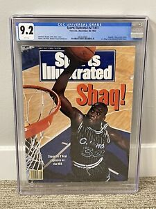 Shaquille O'Neal Shaq Sports Illustrated CGC 9.2 POP 1/2 w/ only 4 higher FREE S
