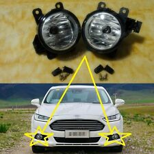 1Pair Front Fog Spot Light / Lamps For Ford Mondeo Fusion 2013-2015