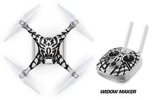 DJI Phantom 4 Drone Wrap RC Quadcopter Decal Sticker Custom Skin Accessory WIDOW