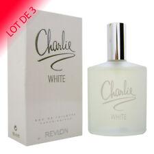 Charlie White de Revlon pour femme Eau de Toilette 100ml LOT DE 3 +1 Échantillon