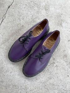 Dr Martens Air Wair Shoes (Made In England) Purple Women UK 6 US 8 EU 39 *Rare