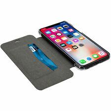 Apple iPhone XR 6.1 Flip Case Card Pocket BLACK Cover Adour by Xqisit Retail Box