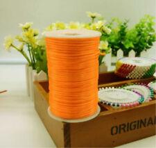 10/100yd Durable Satin Rattail Cord Trim Macrame Beading Nylon Cotton String 2mm