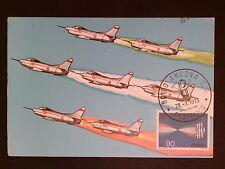 ITALIA MK 1973 AERONAUTICA AVIATION PLANE MAXIMUMKARTE MAXIMUM CARD MC CM c8308