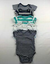 Baby Boy Size 0-3 Months Orcas Stripes Bodysuit Lot 5-Pieces [L32]
