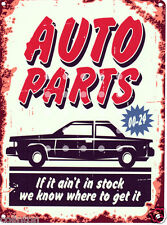 AUTO PARTS GARAGE SIGN VINTAGE STYLE 20x25cm 8x10in pub bar shop cafe workshop