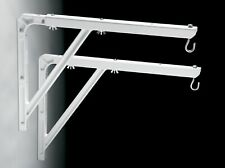 Da-Lite 40933 - #23 Wall Hanging Brackets - Pair - White - Authorized Dealer