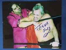 RARE Tiger Jeet Singh signed 8x10 color wrestling photo Japan WWF WWE Hardcore