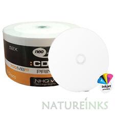 600 NEO Full Printable White CD-R 52x High Quality CD Blank Discs 700MB 80mins