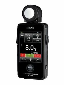 New Sekonic LITEMASTER PRO L-478D Photographic Light Meter black